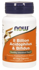 8 BILLION ACIDOPHILUS & BIFIDUS 60 VEGE KAPSUŁEK - NOW FOODS