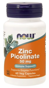 ZINC PICOLINATE CYNK 50 MG 60 VEGE KAPSUŁEK - NOW FOODS