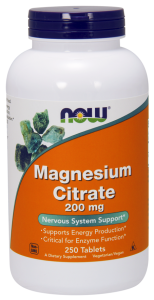 MAGNESIUM CITRATE CYTRYNIAN MAGNEZU 200 mg 100 TABLETEK - NOW FOODS