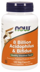 8 BILLION ACIDOPHILUS & BIFIDUS 120 VEGE KAPSUŁEK - NOW FOODS