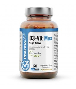 WITAMINA D3 VIT MAX VEGE ACTIVE 60 KAPSUŁEK - PHARMOVIT (CLEAN LABEL)
